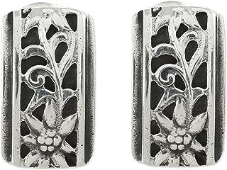 925 Sterling Silver Button Earrings 'Taxco Sunflowers'