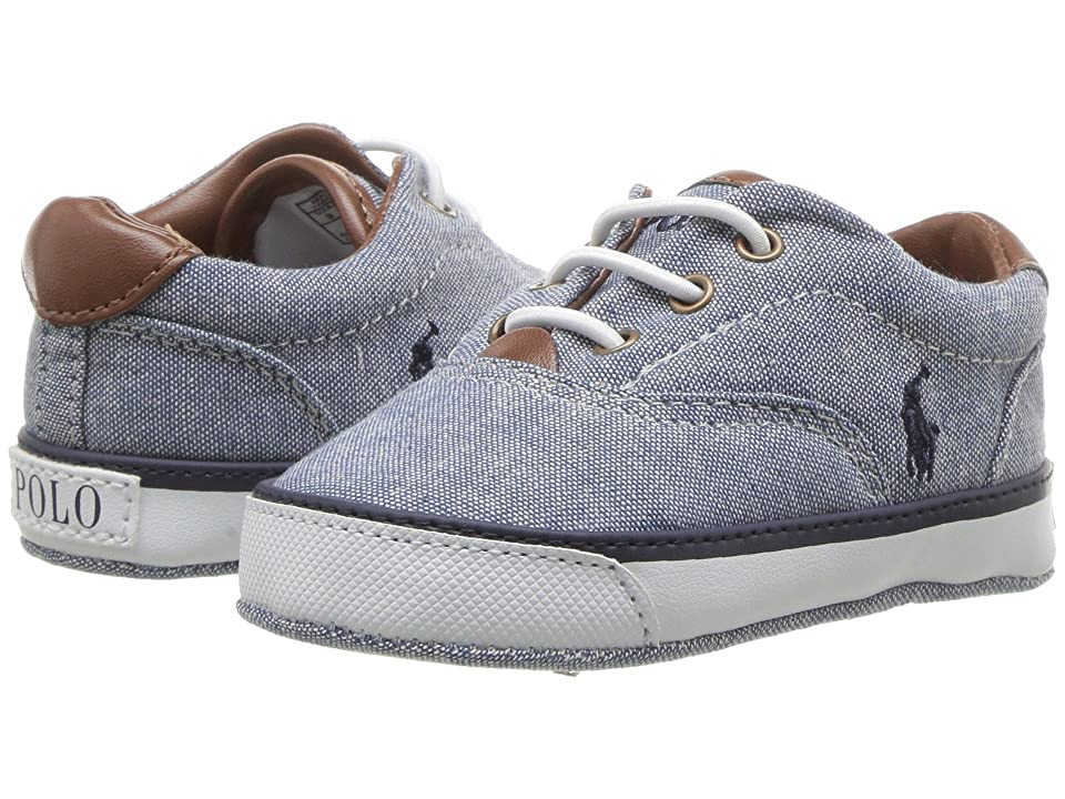 Polo Ralph Lauren Kids Vaughn II (Infant/Toddler) (Blue Chambray/Navy Pony Player) Boys Shoes