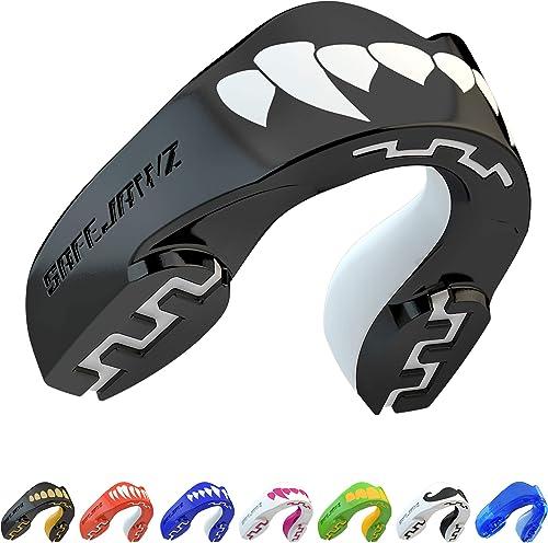 SAFEJAWZ Sport Protège-Dents/Gouttière Coque Dentaire Protege Dent. Protection intégrale pour Tous Les Sports, notamm...