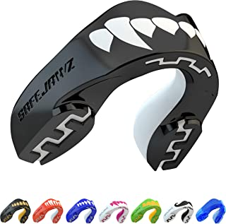 SAFEJAWZ Mouthguard Slim Fit, Adults and Junior Mouth Guard with Case for Boxing, Basketball, Lacrosse, Football, MMA, Martial Arts, Hockey and All Contact Sports