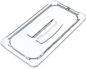Carlisle 10270U07 StorPlus Third Size Polycarbonate Universal Handled Food Pan Lid, Clear
