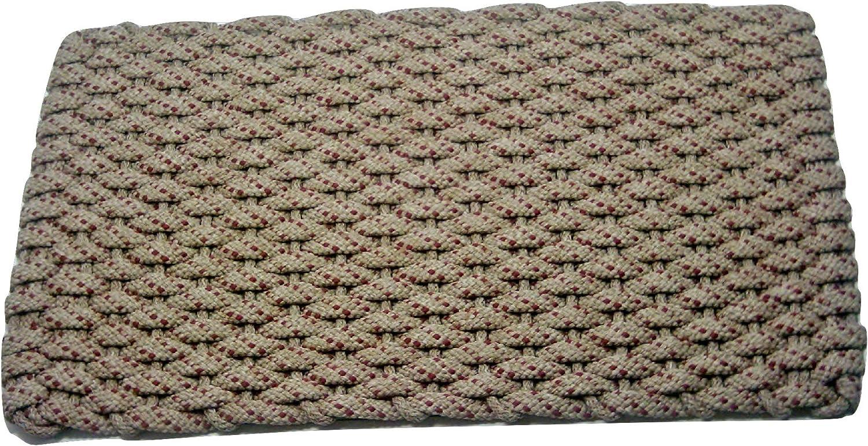 Rockport Rope Doormats 2438368 Indoor & Outdoor, 24  x 38 , Tan with Red Specs