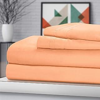 SUPERIOR Egyptian Cotton Sheet Set. - Sarasota Premium Luxury 1500-Thread Count 100% Egyptian Cotton Bed Sheet Set Solid D...