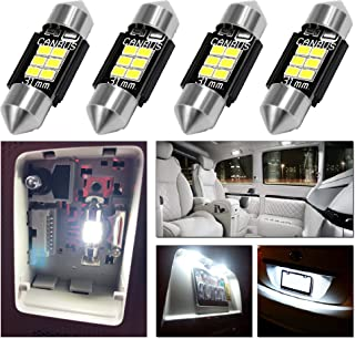 LED Monster 4pcs 31mm Festoon 12-SMD LED Interior Dome Map Lights 3022 3021 DE3022 DE3175, White