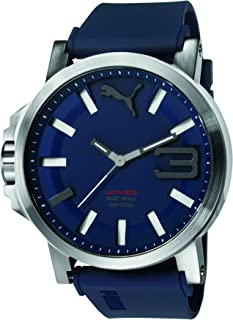 Puma Ultrasize 50 Bold Men's Blue Dial Rubber Band Watch - PU103911003
