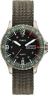 Men's Navi Land 38mm Case Watch, Titanium/Black (TW2U26300LG), One Size