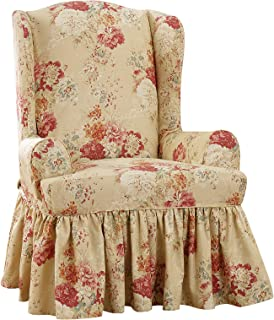Sure Fit Ballad Bouquet by Waverly Wing Chair Slipcover - Blush (SF45572) (Blush, Wing Chair)