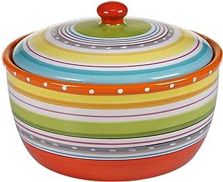 Certified International 25647 Mariachi Bakeware Bean Pot, 2.5 quart, Multicolor