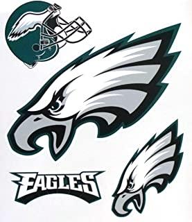 FATHEAD Philadelphia Eagles Mini Team Logo Helmet Set Official NFL Vinyl Wall Graphics 8