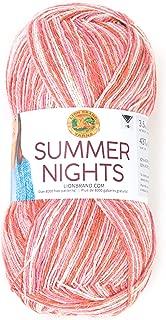 Lion Brand Yarn 511-304 Summer Nights Yarn, One Size, Tropical Punch