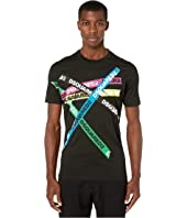 DSQUARED2 - Black Pressato Tape Print Cool Fit T-Shirt