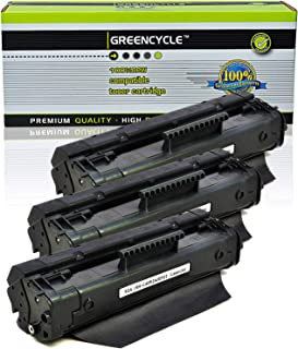 GREENCYCLE High-Yield C4092A 92A Toner Cartridge Replacement Compatible for HP Laserjet 1100 1100a 1100ase 1100axi 1100se 1100xi 3200 3200m 3200se, Page Yield Up to 2500 Pages (Black, 3 Pack)