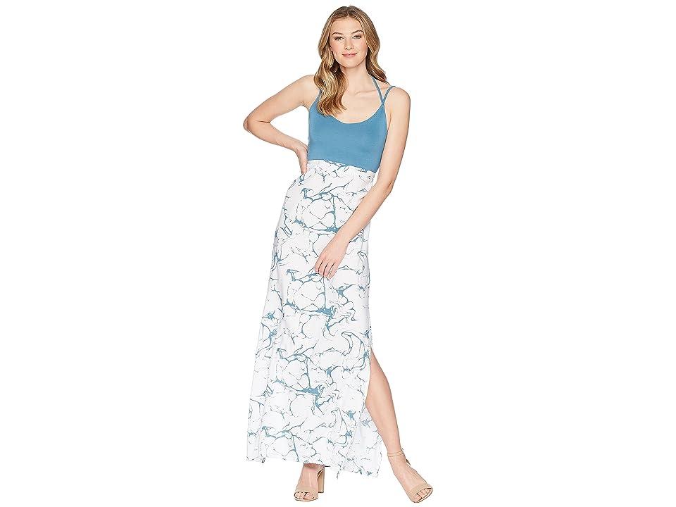 Hurley Tumble Dry Ruby Maxi Dress (Noise Aqua) Women