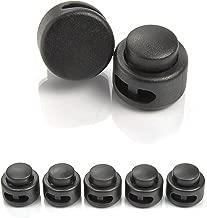 Lot de 10/bloqueurs de cordon//cordon pince Tanka vestes etc. couleur: noir/ /Ø 18/mm pour cordes /Ganzoo en plastique