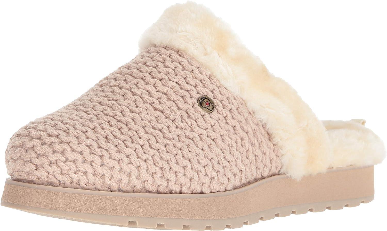Skechers BOBS Women's Keepakes-Sleep in Nubby Knit Clog with Memory Foan Slipper