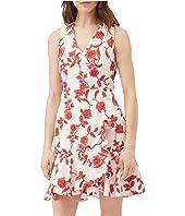 Sleeveless Scarlet Wrap Dress