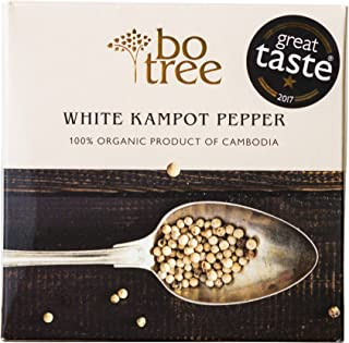 Organic Kampot Pepper, White Peppercorns