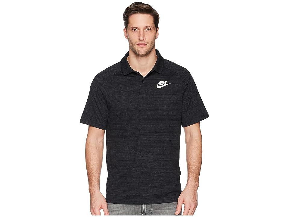 Nike NSW AV15 Polo Knit (Black/Heather/White) Men