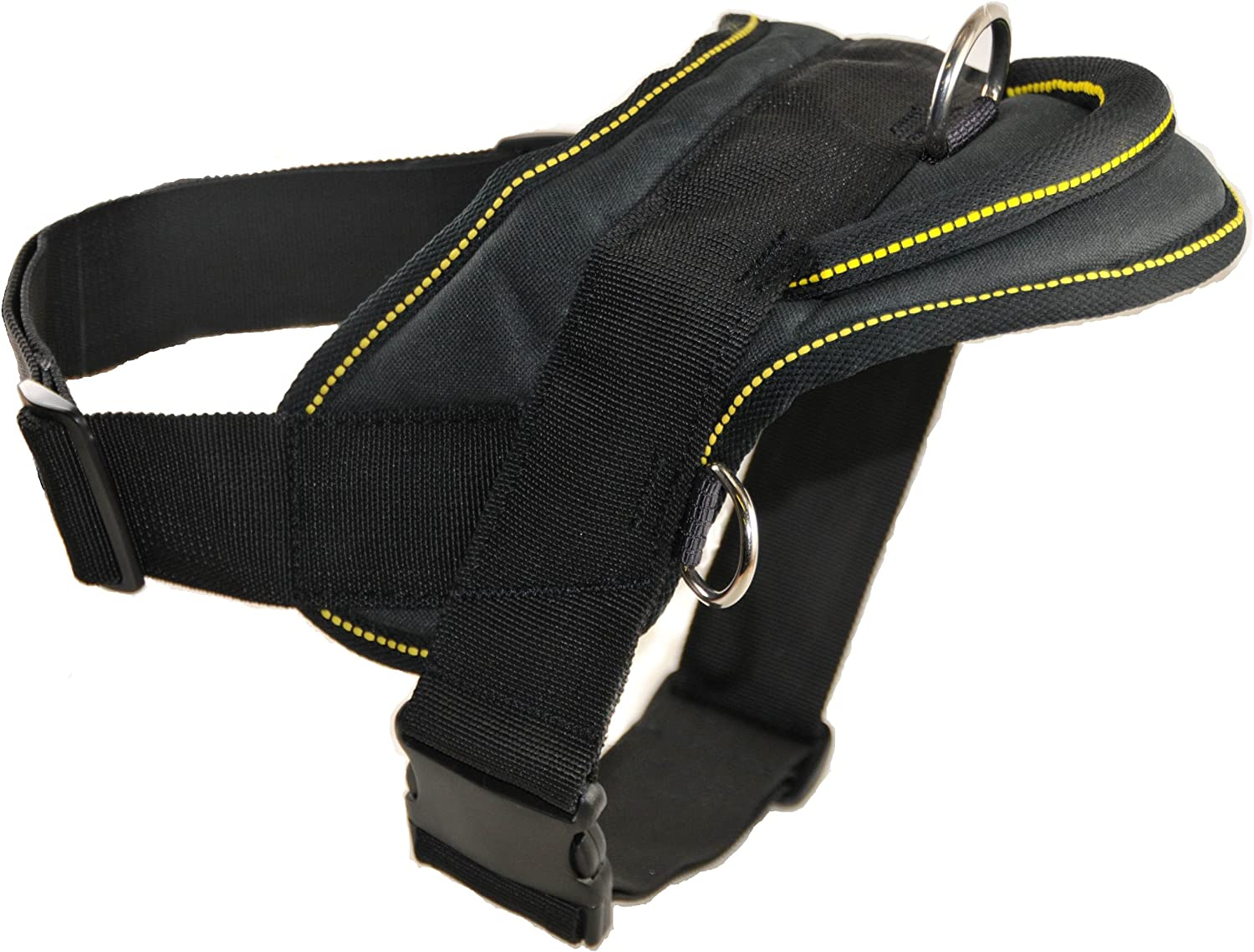 Dean & Tyler DT Dog Harness with Trim, S, Black  Yellow