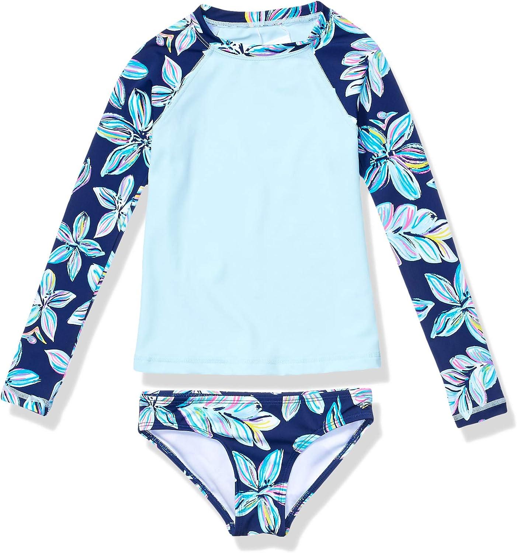 Kanu Surf Girls' Choice Long Sleeve Two Rashguard Colorado Springs Mall Set Piece Swim