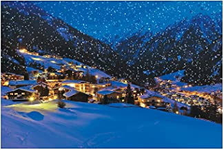 Fun Express - Snow Village Backdrop Banner for Winter - Party Decor - Wall Decor - Preprinted Backdrops - Winter - 3 Pieces