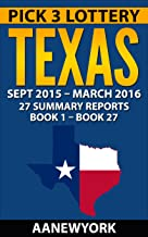 Pick 3 Lottery Texas: 27 Summary Reports (Book 1 to Book 27)
