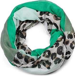 styleBREAKER Sciarpa ad anello con motivo a fiori leggera e setosa 01016040 effetto stropicciato