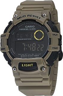 ساعت مچی کوارتز باتری مقاوم در برابر لجن 10 ساله با بند رزین ، خاکی ، 27.6 (مدل: TRT-110H-5BVCF)