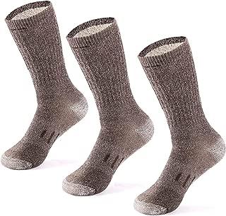 Medium Weight for Men and Women by Ballston 4 Pairs 86/% Merino Wool Socks for Winter /& Outdoor Hiking and Trekking