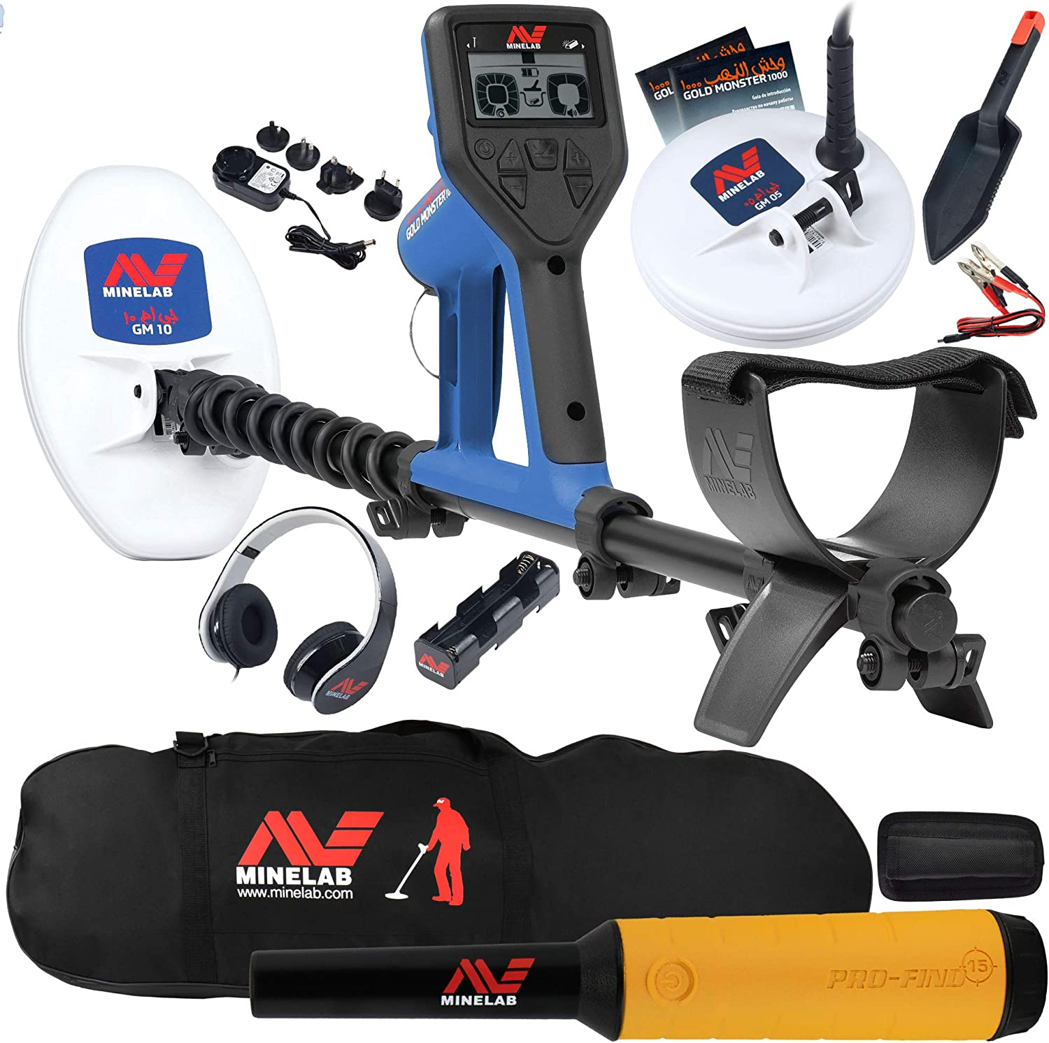 Minelab Gold Monster 1000 Bundle with 15 2 Find Safety and trust Washington Mall Bag Pro Carry