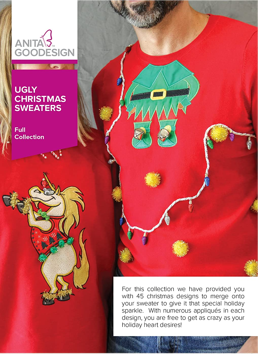 Anita Goodesign Embroidery Designs Ugly Christmas Sweaters