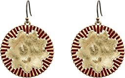 Lucky Brand Threaded Circle Drop Earrings