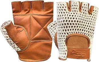 Prime Leather Vintage Style R/étro Mitaines en Cuir Mode Gants de Cyclisme Circulaire 317