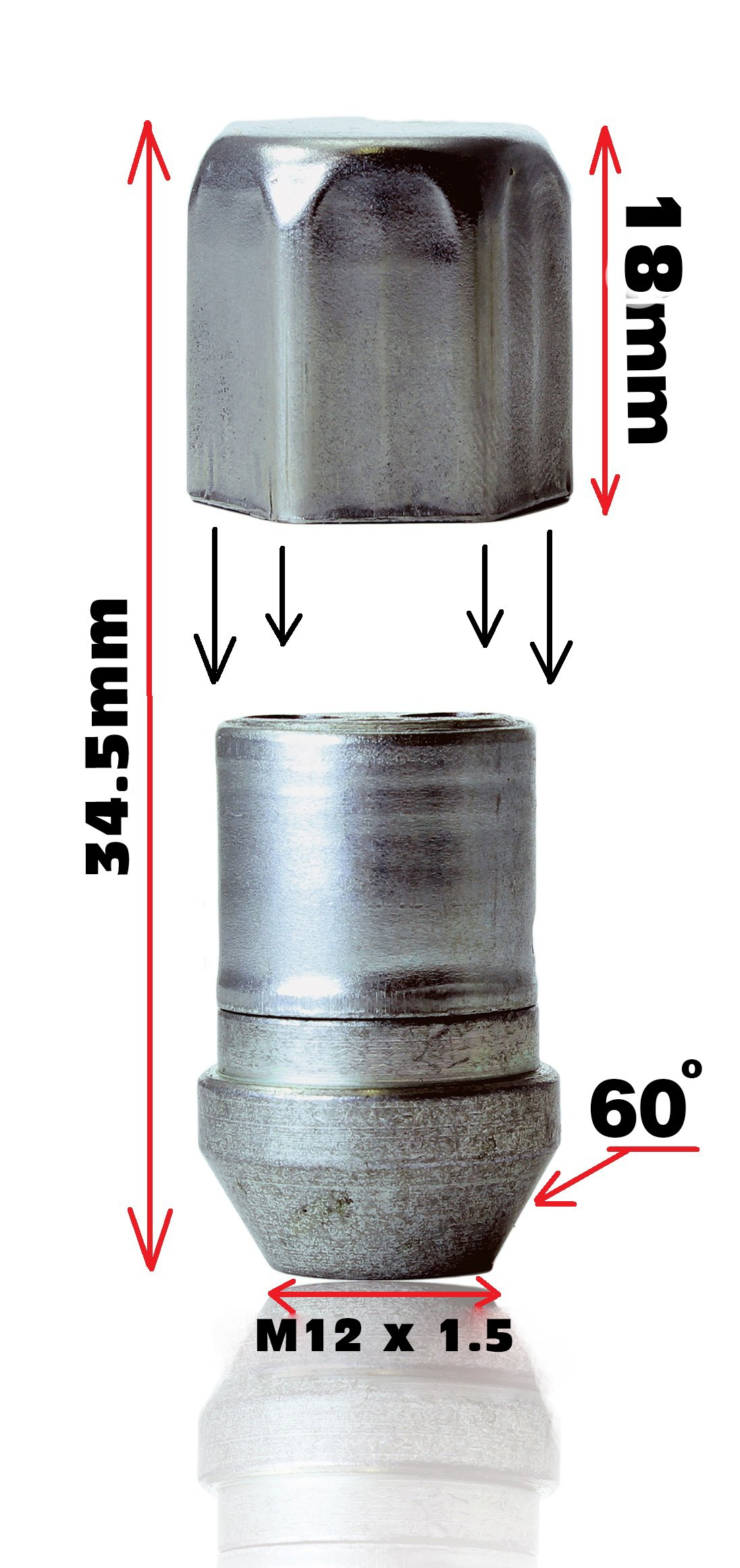 Vauxhal Frontera Models Heyner Germany StillBull Locking Wheel Nuts Removal Key M12x1.5 Set 4 Locks Alloys Antitheft Protection Bolts HA