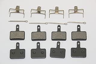 KINGSTOP JIM 4 Pairs of Bicycle disc Brake Pads for Shimano DEORE BR-M575/M525/M515 NEXAVE BR-C501/C601/C607 BR-M495/M486/M485 M475/M465/M447/ M446/M445/M416/M415 M395/M375 Tektro Orion Gemini