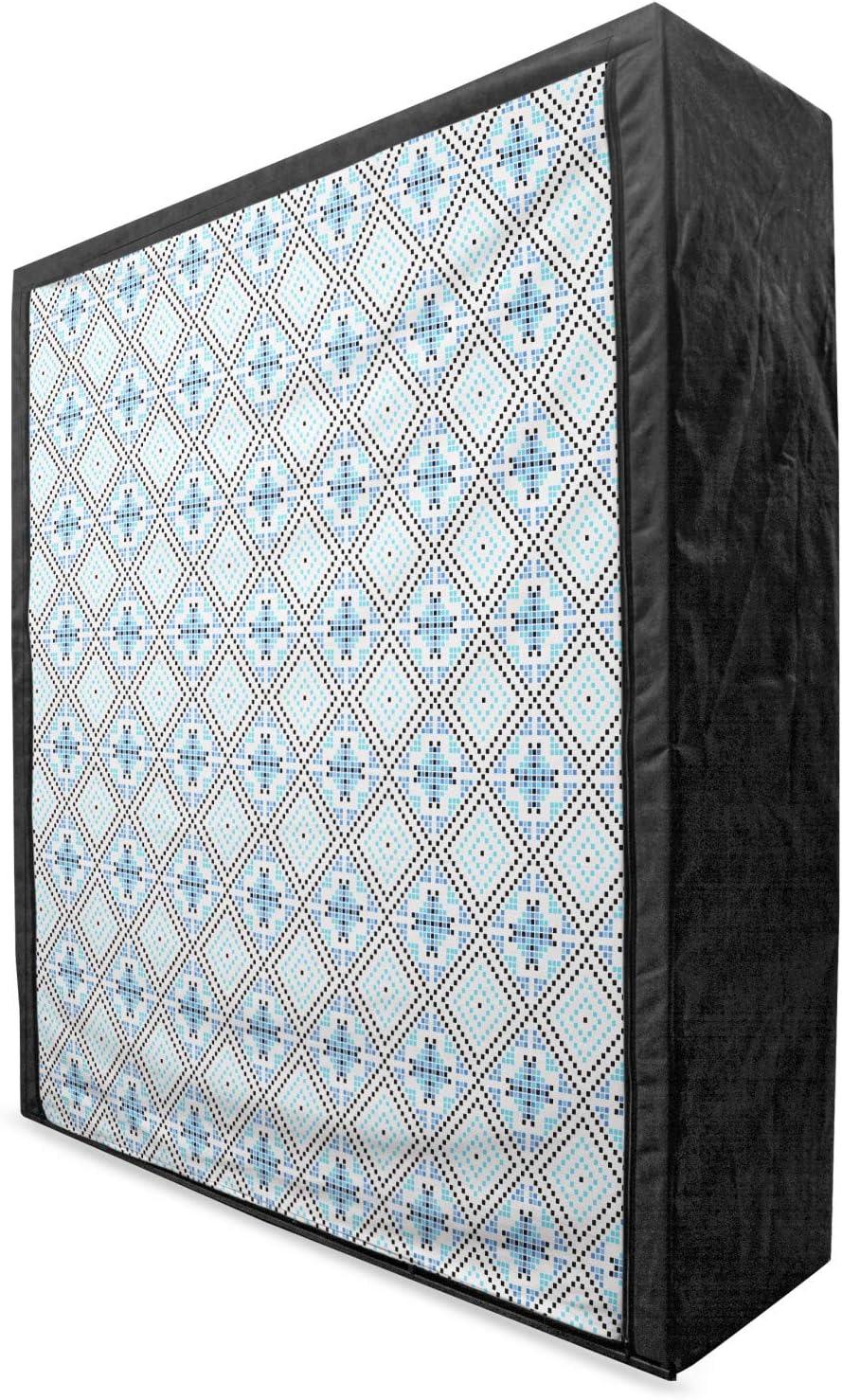 Memphis Mall Ambesonne Geometric Portable Fabric Wardrobe wi Gorgeous Ornament Mosiac