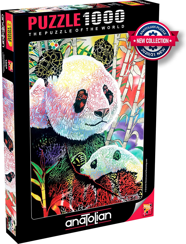 11. Anatolian Puzzle - Rainbow Panda - 1000 Piece Jigsaw Puzzle