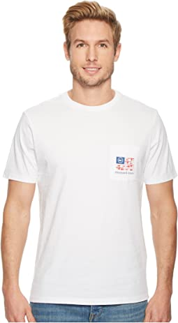 Vineyard Vines - Short Sleeve Flag Reel Pocket Tee