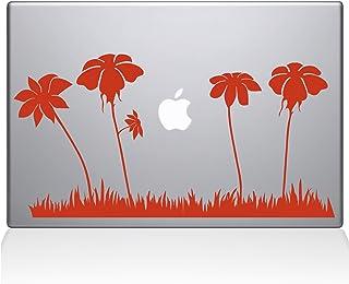 "The Decal Guru Spring Flowers Macbook Decal Vinyl Sticker  - 15"" Macbook Pro (2016 & newer) - Orange (1181-MAC-15X-P)"