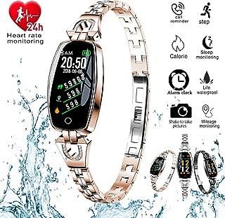 H8 Smart Watch Blood Pressure Heart Rate Monitor Sport Waterproof Bracelet New Fitness Tracker (Gold)