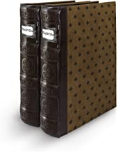 Bellagio-Italia Tuscany Chestnut DVD Storage Binder Set - Stores Up to 96 DVDs, CDs, or Blu-Rays - Stores DVD Cover Art - Acid-Free Sheets