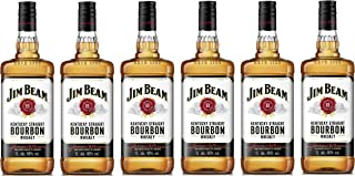 Jim Beam - Bourbon Whiskey - 6 x 1 Liter