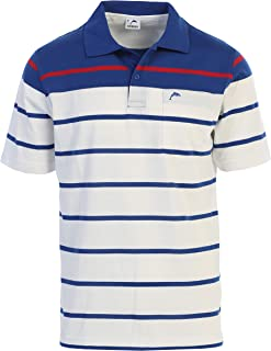 Gioberti Mens Slim Fit Striped Polo Shirt with Pocket
