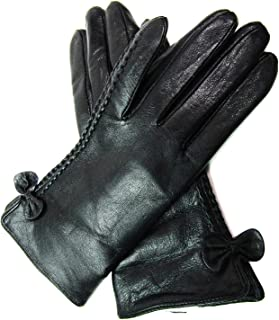 LE Ladies Leather Gloves Fully Lined (Small, Black)