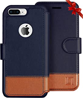 LUPA Wallet case for iPhone 8 Plus, Durable and Slim, Lightweight with Classic Design & Ultra-Strong Magnetic Closure, Faux Leather, Desert Sky, Apple 8 Plus