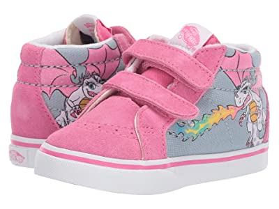 Vans Kids Sk8-Mid Reissue V (Infant/Toddler) ((Rainbow Dragon) Blue Fog/True White) Girls Shoes