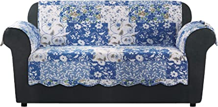SureFit Heirloom Quilted Pet - Loveseat Slipcover - Bluebell Floral (SF46468)