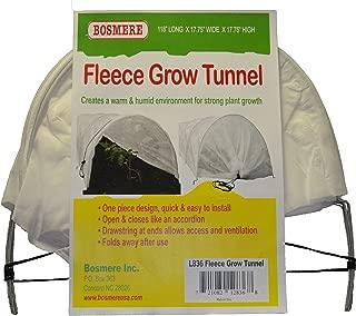 Bosmere L836 Fleece Tunnel Plant Row Cover, 10-Feet, Green