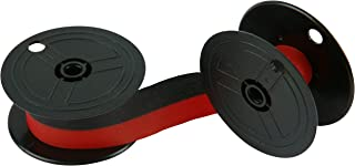 Porelon 11216 Universal Twin Spool Calculator Ribbon, 6-Pack,Black/red