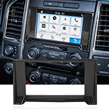 Voodonala Carbon Fiber Grain Central Contral Navigation GPS Decorative Trim Inner Accessories for Ford F150 2015 2016 2017